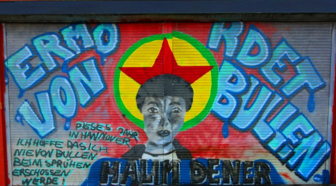 Erklärung des AJZ Bielefeld zur Kriminalisierung des Halim-Dener-Graffiti