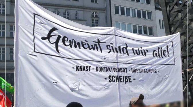 Demo gegen die Einschränkung der Versammlungsfreiheit am 15.05.21 in Bielefeld
